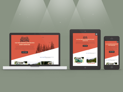 Scooby Campers RWD scooby campers rwd responsive adaptive design app ipad orange retro apple ios7