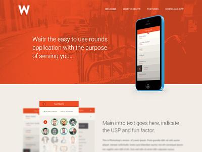 Waitr splash WIP website school trust responsive design foundation grid ux rwd layout colour
