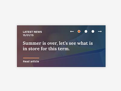 News ui feature latest news