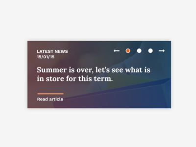 News ui feature latest news