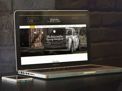 Yorkshire Luxury Cars rental car responsive luxury launch design homepage