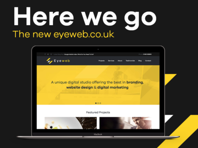 Eyeweb 2017 agency marketing development ui services portfolio homepage website identity new launch