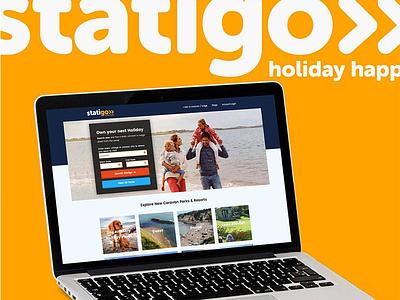 Statigo - Static Caravan Booking reserve book caravan holiday chill brand homepage website booking ux ui dev