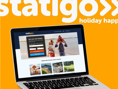 Statigo - Static Caravan Booking reserve book caravan holiday chill brand homepage website booking ux ui dev