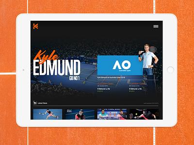 Kyle Edmund live stats web sport design ux website ui
