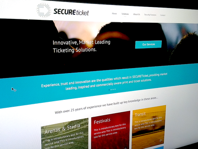 Secure ticket update app blog blue clean design icon illustration iphone logo ui typography
