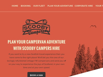 Scooby Campers WIP app blog red clean design icon illustration iphone logo ui typography