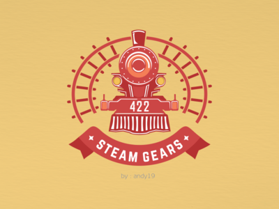 Locomotive logo design concept