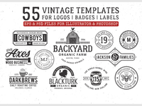 55 vintage logo template for only $12