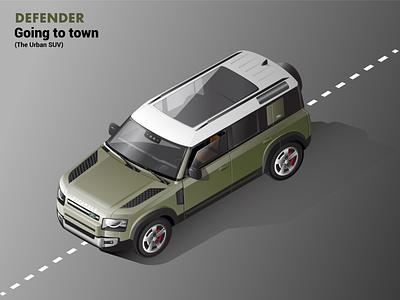 2020 Land Rover Defender Isometric Illustration adobe illustration isometric automobiles car vector illustration land rover 2020 defender isometric illustration isometric art illustration