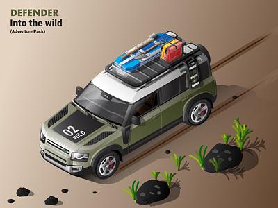 2020 Land Rover Defender Isometric Illustration - Adventure Pack defender adobe illustrator vector isometric illustration vector illustration isometric automobiles illustration isometric art adobe illustration 2020 defender