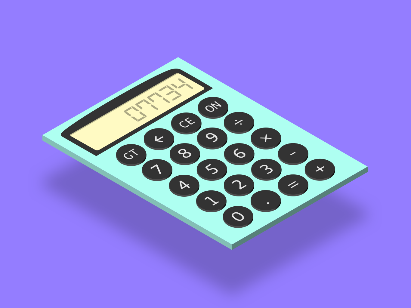 Daily UI #004 - Calculator isometric calculator daily ui 004 daily ui