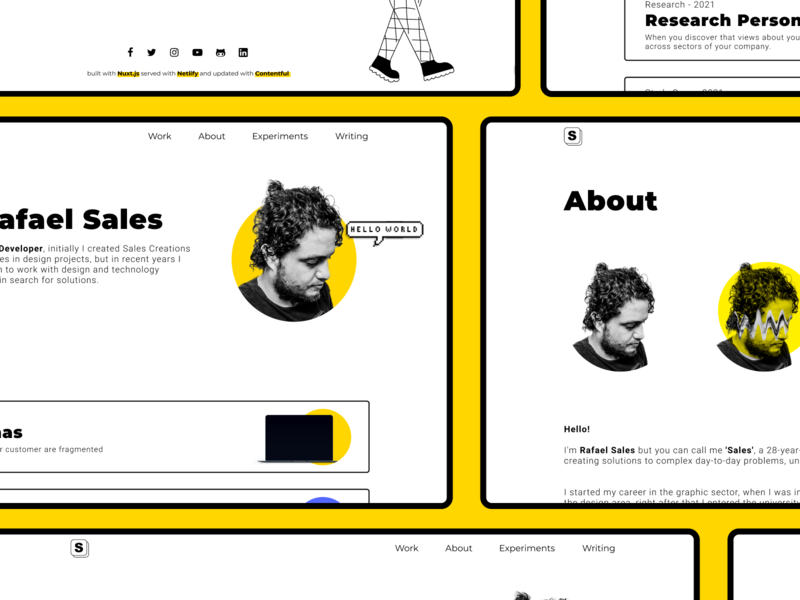 New Personal Website - mosaic