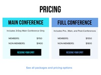 Conference Pricing Cards