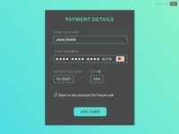 Daily UI - Day 2 - Credit Card Checkout