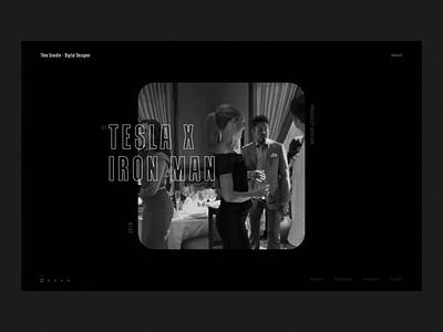 Portfolio • Slider preview video movie cinema interface ui black  white interaction branding motion animation portfolio