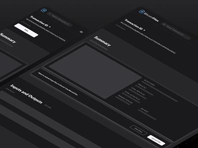 BitcoinFiles Block Explorer Design Teaser product design interface design ui design uiuxdesign design cryptocurrency crypto bitcoin block explorer explorer block uiux uidesign ux ui