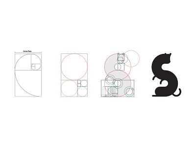 Weasel Logo Process helllo crypto blockchain design identity brand process logo ratio golden
