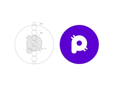 Pod Logo Process identity bitcoin token ico branding brand crypto blockchain process logo pod