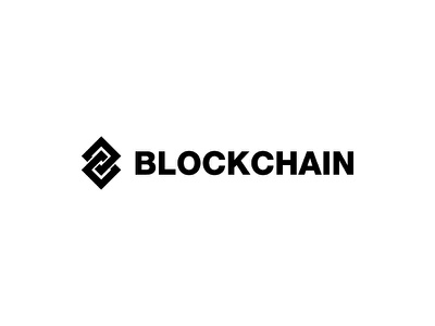 Blockchain Logo branding brand mark process identity logo bitcoin crypto blockchain