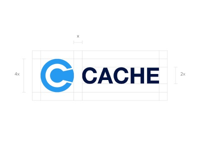 Cache Logo typography bitcoin crypto blockchain cache design brand branding mark identity logo