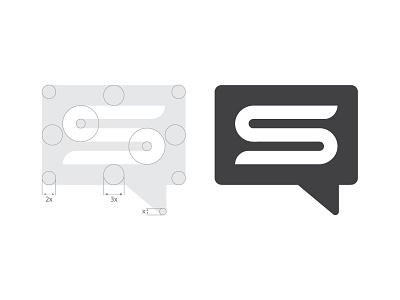 S + Social logo blockchain bitcoin cryptocurrency crypto identity design mark logo social
