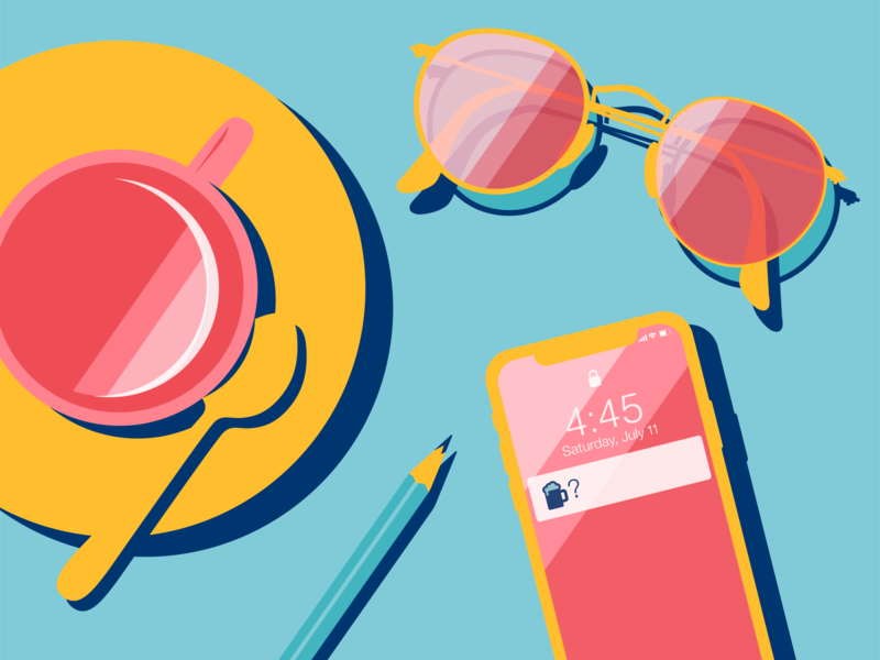 Saturday Afternoon texting pink yellow blue coffee shop happy hour beer saturday afternoon weekend saturday sunglasses iphone coffee graphic design vector graphic vector design vector art vector illustration vector illustration