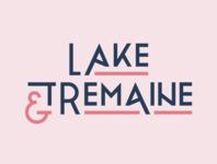 Lake & Tremaine typography logo logotype type typography blue pink brand brand design personal brand ampersand personal branding logo branding design branding logo design graphic design design