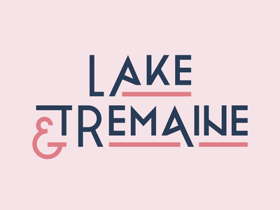 Lake & Tremaine typography logo logotype type typography blue pink brand brand design personal brand ampersand personal branding logo branding design branding logo design graphic design design