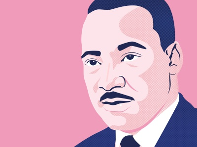 Martin Luther King, Jr. history illustrator digital illustration vector vector illustration illustration black lives matter civil rights martin luther king jr martin luther king mlk day mlk