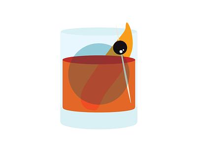 Old Fashioned alcohol illustrator illustration vector illustration vector chicago designer chicago old fashioned whiskey cocktail cocktails booze