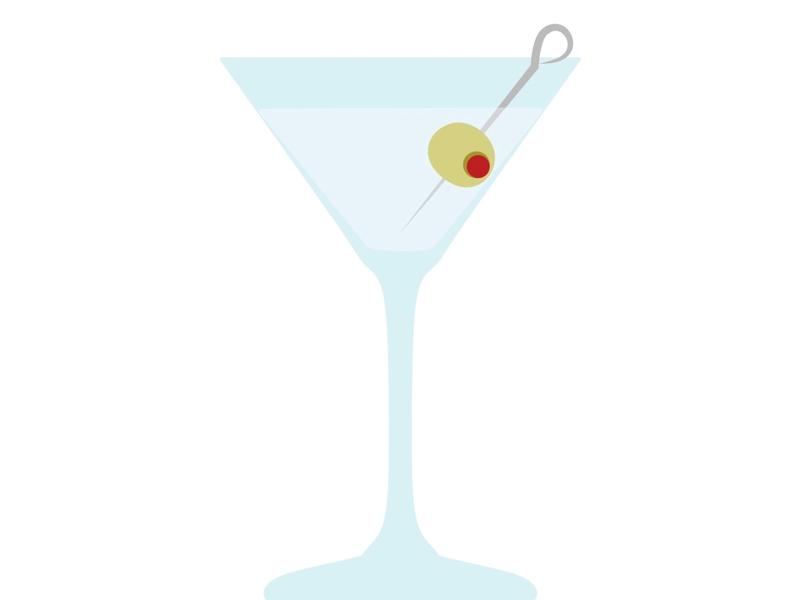 Martini Time cocktails cocktail illustrator illustration vector design vector art vector chicago olives martini booze