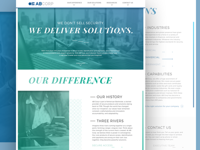 AB Corp Website Re-Design