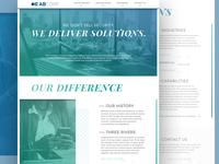 AB Corp Website Re-Design