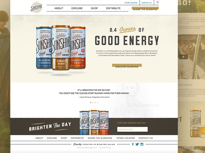 Sunshine Beverage Website Re-design