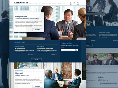 Raymond James Web re-design