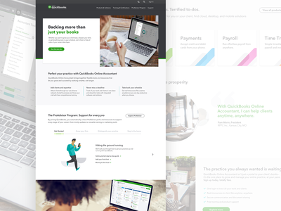 QuickBooks Accountant Website Re-Design