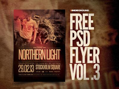 Freebie Flyer Vol. 3 alternative rock template festival indie grunge freebie free flyer poster photoshop psd