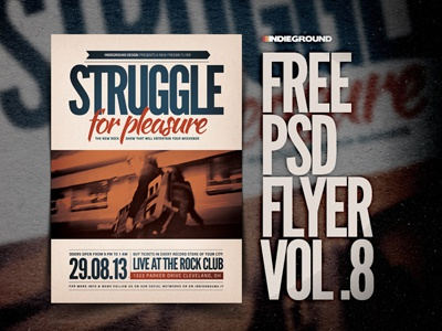 Freebie Flyer Vol. 8 clean minimal typography alternative indie psd photoshop poster flyer free freebie music concert festival template gigposter