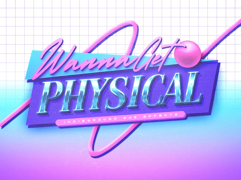80s Photoshop Text Effect - No.27 template photoshop psd 1980s 80s text effect mockup logo retro indieground vintage futuristic synthwave typography vhs memphis fitness