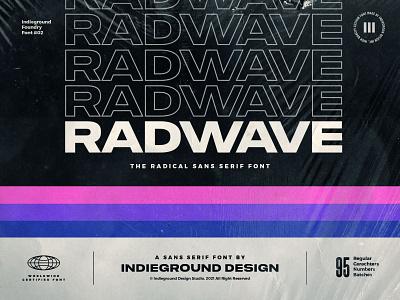 Radwave Free Font floppy delorean typeface trap typo titles logo sans serif typography type rad black bold modern wide retro freebie free font display