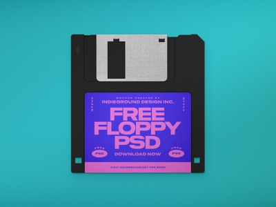 Free PSD Floppy Disk Mockup gaming floppydisk floppy 80s label mockup retro photoshop vintage template psd