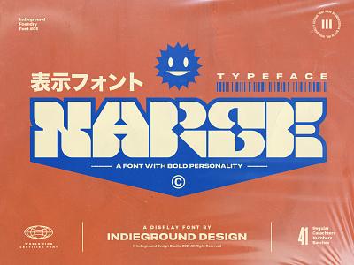 Narse Font typeface typo type label japanese black extra bold heavy bold display font jazz 1970s 70s design logo poster vintage retro typography