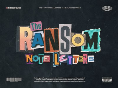 Ransom Note PNG Letters vintage thriller serial killer menace magazine cutout collage newspaper message threatening threat riddler riddle ransom typo type typography alphabet letters png