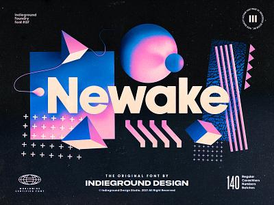 Newake Free Font retro font design indieground 90s quote memphis typeface bold typo lettering display type typography sans serif sans-serif sanserif fonts freebie free font