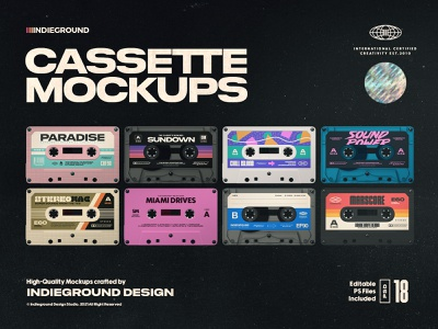Cassette Tape Photoshop Mockups promo instagram object 3d covers labels music tape case plastic 90s nostalgia cassette tape cassette music mockup photoshop retro vintage template psd