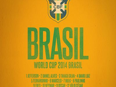 Brasil World Cup Celebrative T-shirt