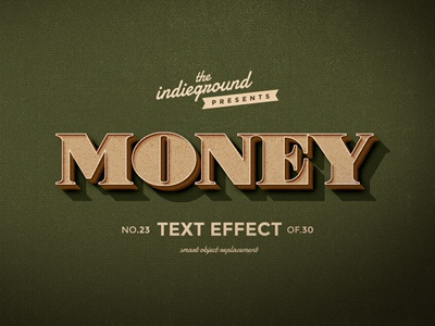 Retro Vintage Photoshop Text Effect No.23 mockup classic 3d hipster type typography lettering psd photoshop style effect vintage retro