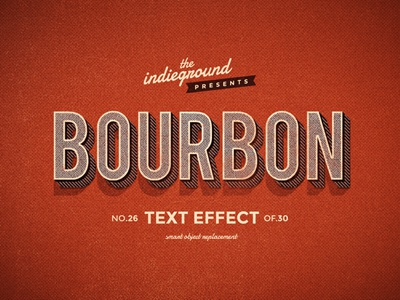 Retro Vintage Photoshop Text Effect No.26 mockup retro vintage effect style photoshop psd lettering typography type hipster 3d classic