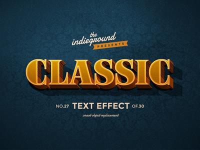 Retro Vintage Photoshop Text Effect No.27 mockup classic 3d hipster type typography lettering psd photoshop style effect vintage retro